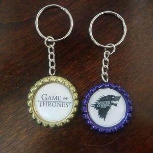 Game of Thrones Bottle Cap Keychains
